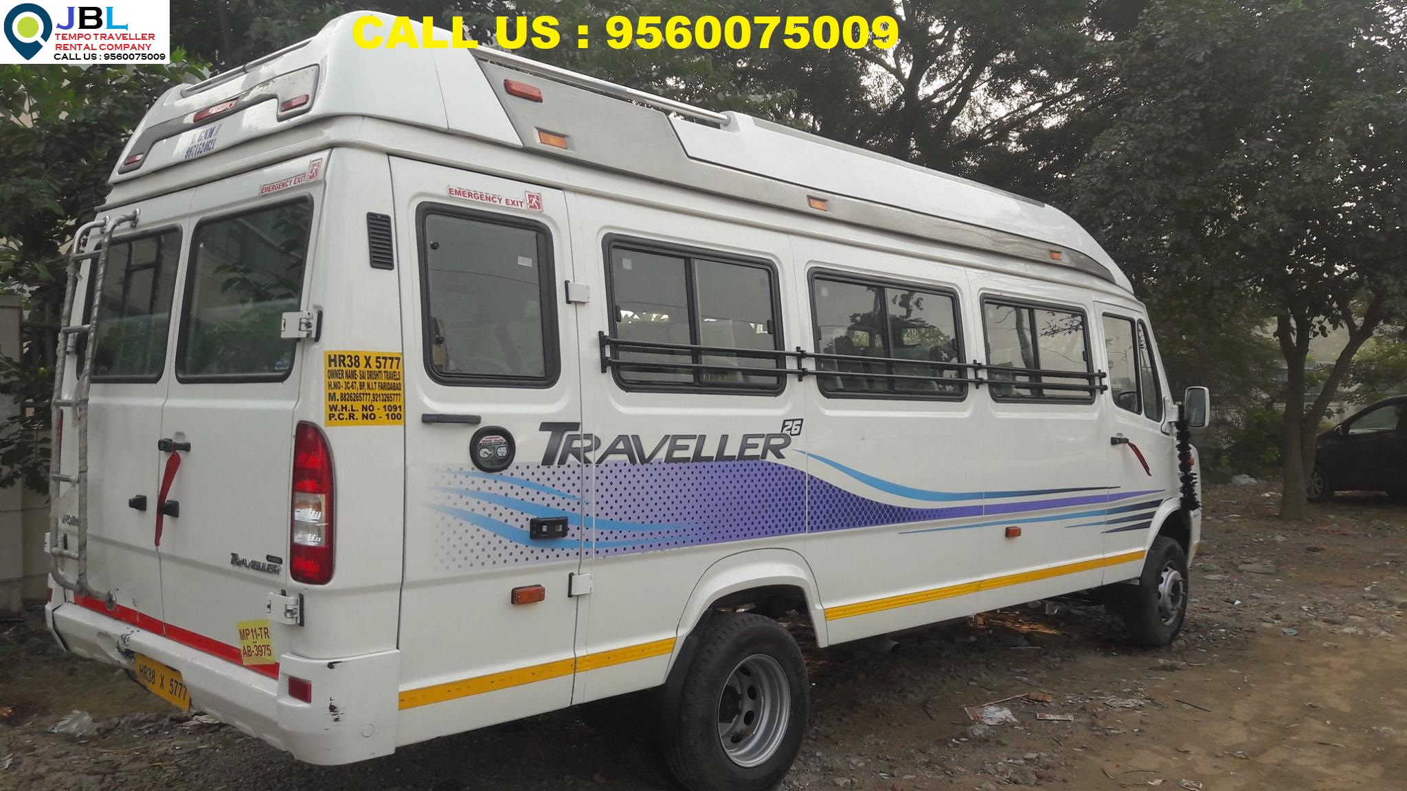 Rent tempo traveller in Sector 78�Faridabad